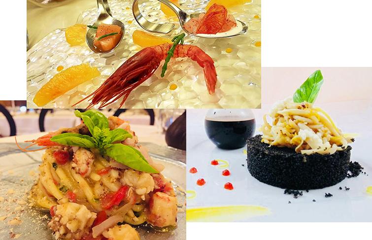 Specialità cucina di pesce - Ristorante Porta Marina